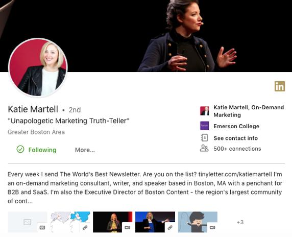 Katie Martell, LinkedIn Influencer